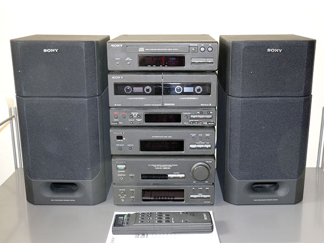 sony mhc 3600 stereoanlage kompakt anlage boxen cd doppel kassette radio ebay. Black Bedroom Furniture Sets. Home Design Ideas